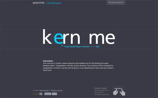 SOTD: Kern Type, the kerning game