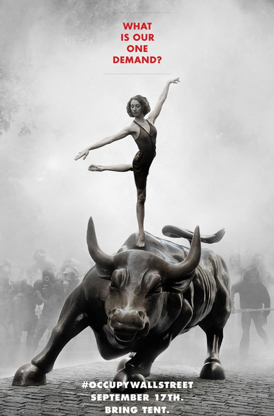 Inaugural poster for the Occupy Wall Street protest