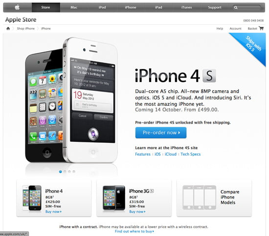 Pre-Order Apple iPhone 4S, today!