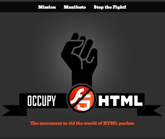 Occupy HTML - The movement to rid the world of HTML purism