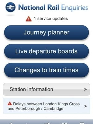 National Rail Enquiries new mobile site // December 5th, 2011