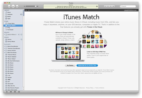 Apple launches iTunes Match in the UK