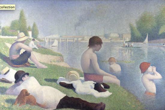Bathers at Asnières 1884, Georges Seurat