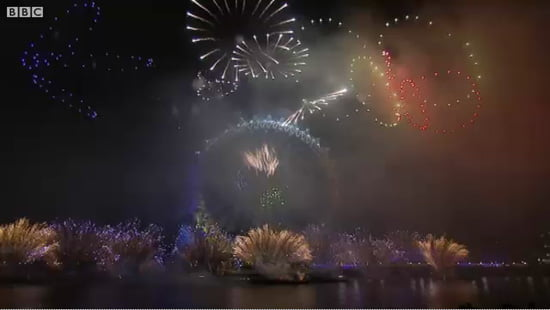 London's new year fireworks set to music
