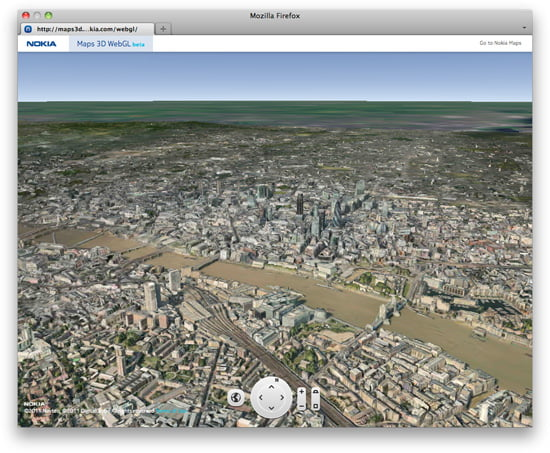 Nokia Map London in Photorealistic 3D