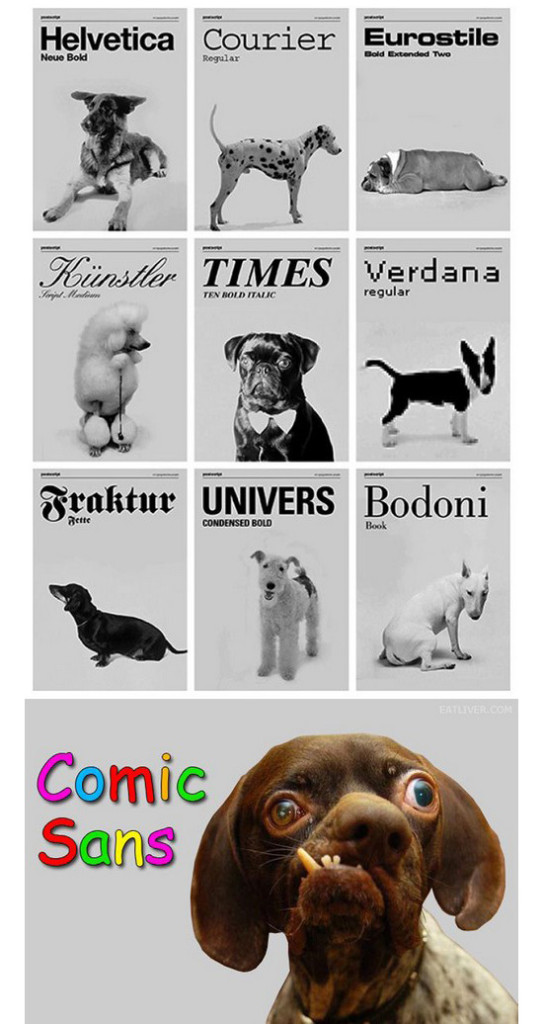 If dogs were fonts