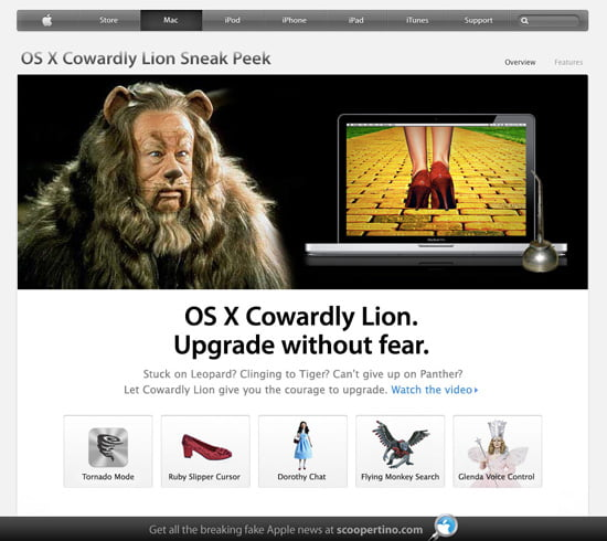 Apple takes the wraps off OS X Cowardly Lion