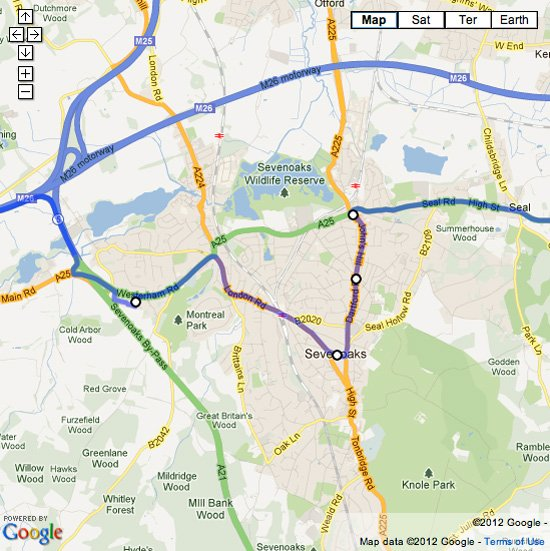 Update: Olympic Torch route in Sevenoaks