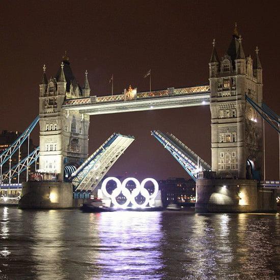 Olympic Rings under Tower Bridge