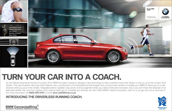 BMW's driverless Running Coach