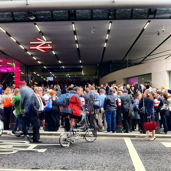 Overcrowding at London Bridge station and Cannon Street