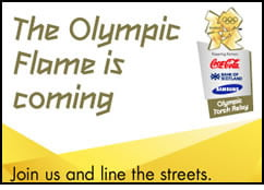 The olympic flame is coming