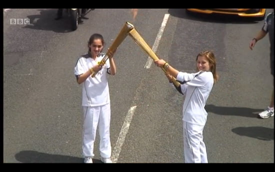 Pictures from Olympic Torch in Sevenoaks, Kent