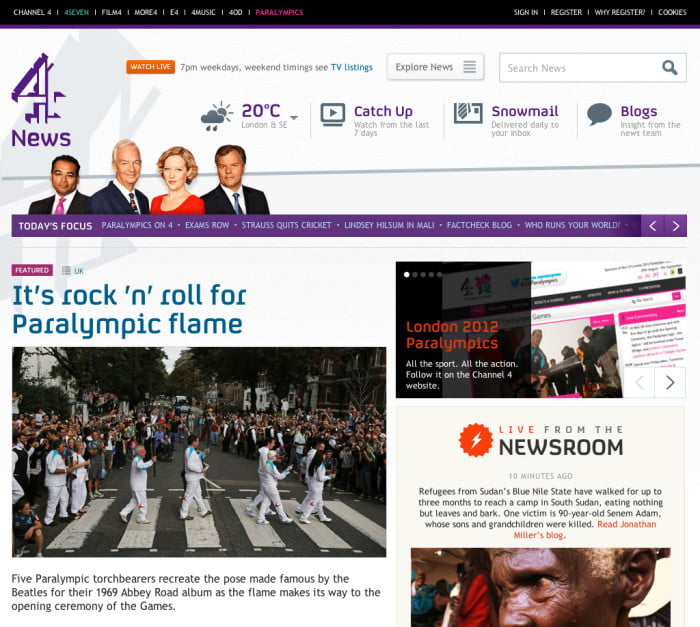 Channel 4 News relaunches website