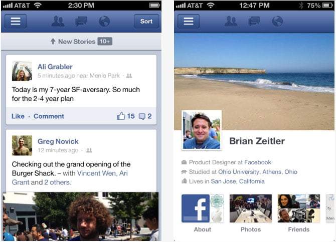 Facebook launches faster iOS application // August 28th, 2012