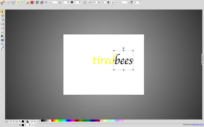 svg editor at tiredbees.com launches