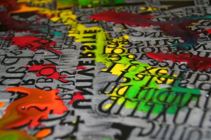 Close up Paris Printing Linocut