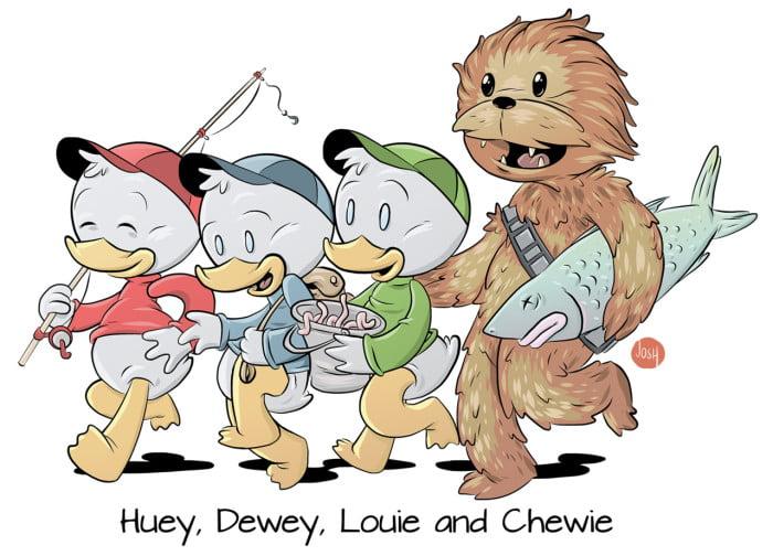 Huey, Dewie, Louie and now… Chewie
