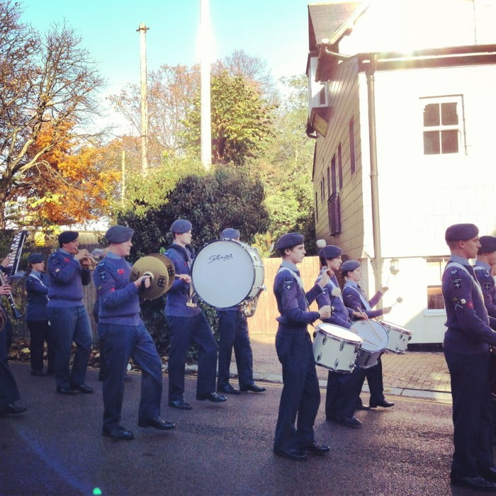 Remembrance Sunday Air Training Corps marching band