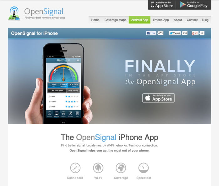 OpenSignal for iPhone, finally!