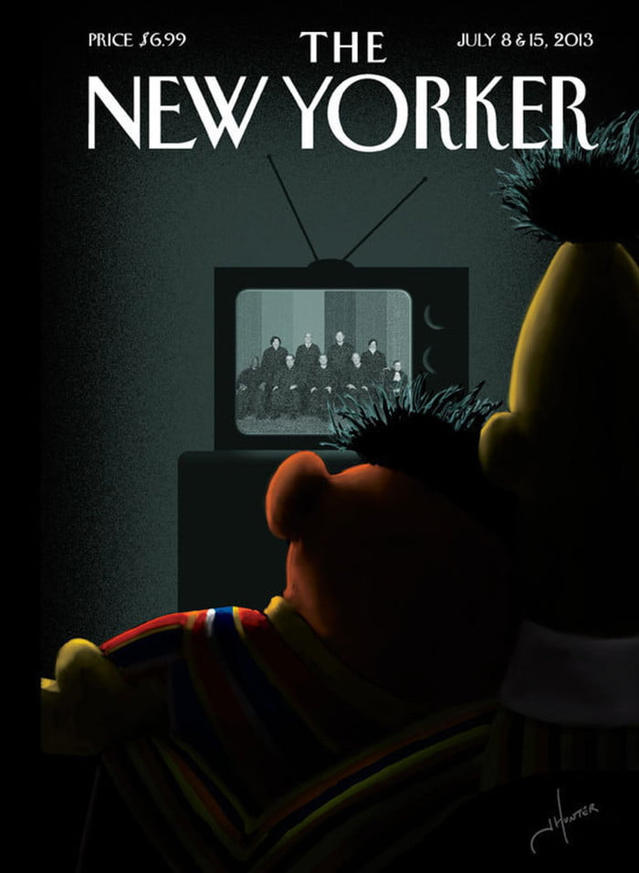 The New Yorker features Bert and Ernie
