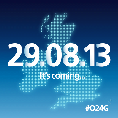 O2's 4G network to switch on from 29th August