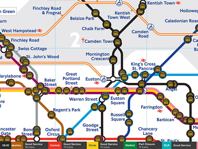 Watch Tube Trains Mapped In Real Time