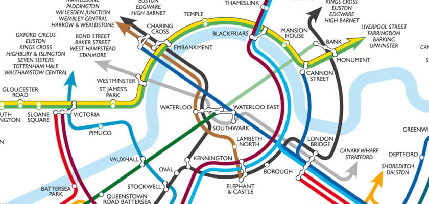Alternative Map Of South London Train Routes // September