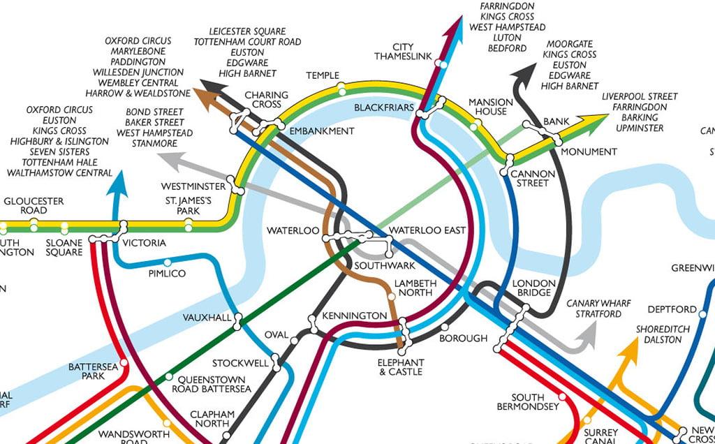 alternative map of south london train routes september. Black Bedroom Furniture Sets. Home Design Ideas