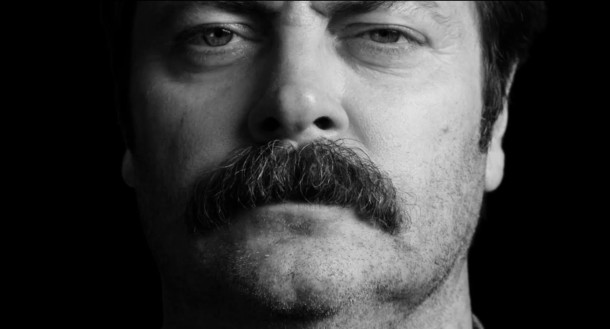 Nick Offerman's Moments in Moustache History