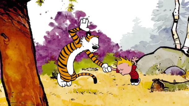 Calvin and Hobbes dance
