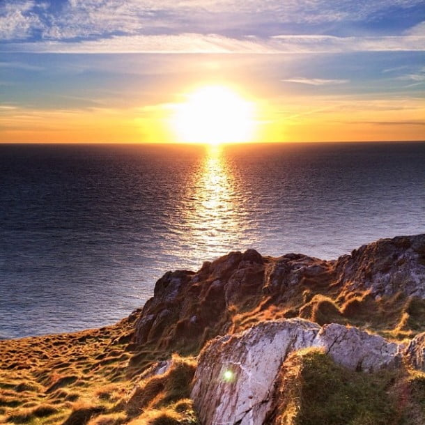 Sunset off South Stacks, Anglesey by allthatmalarkey