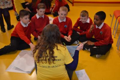 Children learning about diversity, including LGBTI, at a lesson using the Challenging Homophobia In Primary Schools resources.