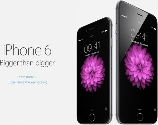 Apple reveals iPhone 6 and larger iPhone 6 Plus