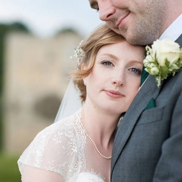 Beautiful bride Heather. Wedding at Leeds Castle by Fiona Kelly Photography