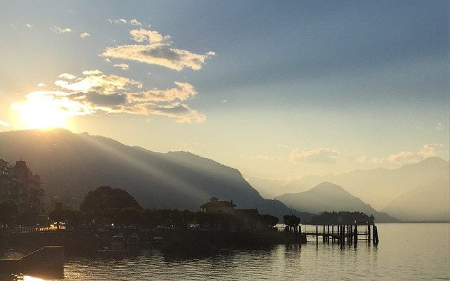 The setting over Stresa