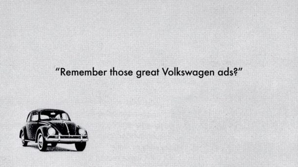 """Remember Those Great Volkswagen Ads?"""