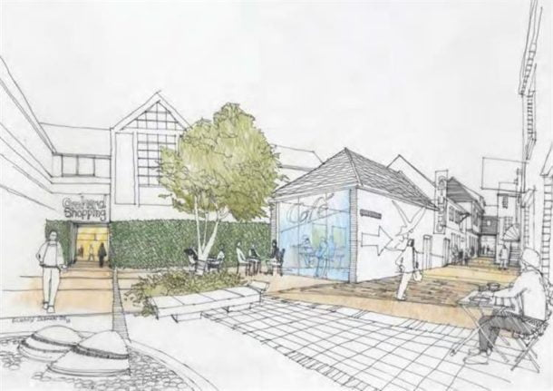 Vision to activate Bulls Head Yard and provide access to Orchards Shopping Centre