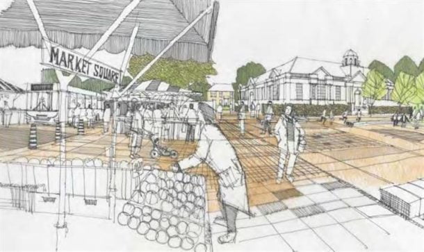 Vision for new-look Market Square, with space for outdoor market