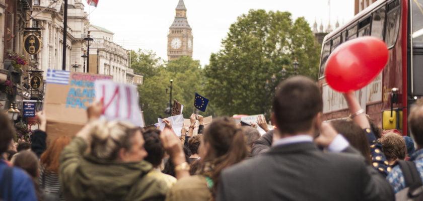 Pro-EU protest by ZapTheDingbat