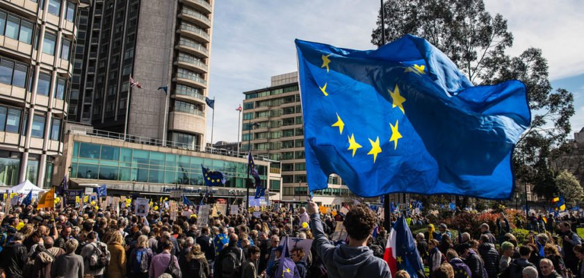 Unite For Europe March, London 25th March 2017 by pixiemushroom